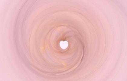 Coeur mauve