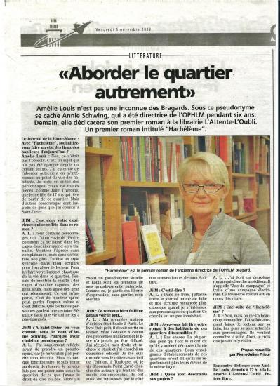 Journal de la Haute Marne 6-9-2009