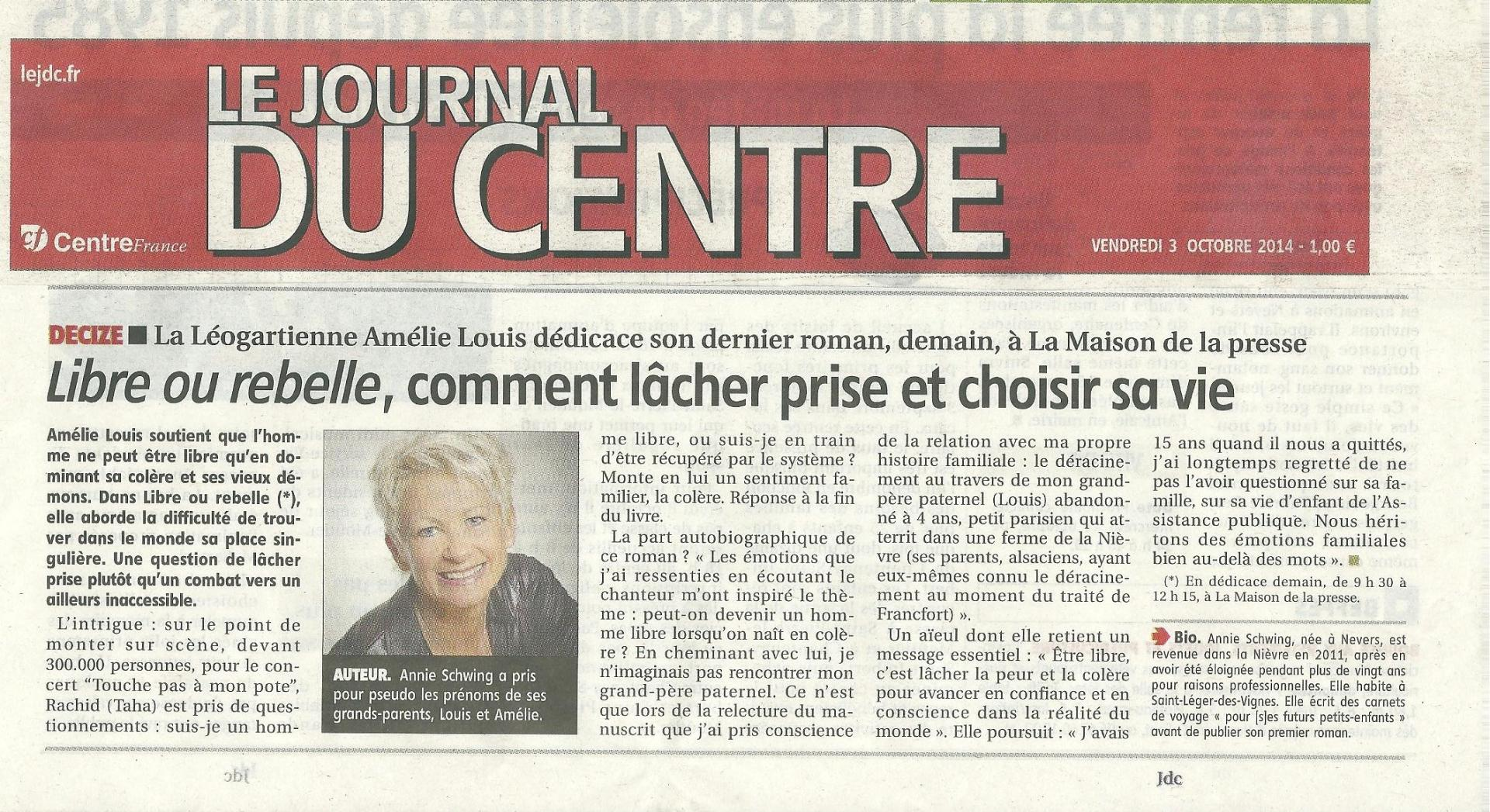 Journal du centre 3 10 2015